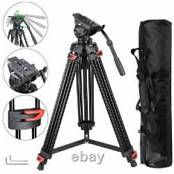 71 Pro Heavy Duty Video Camera Tripod with Fluid Pan Head For DSLR Camcorder