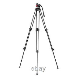72 Camera Tripod for DV DSLR Video Stand Aluminum Fluid Pan Head with Carry Bag