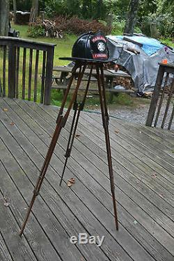 Antique Wood Surveyor's Surveying Transit Level Tripod Lamp Base Repurpose