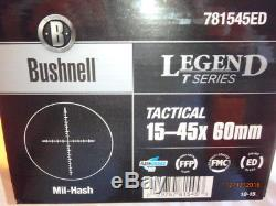 BUSHNELL LEGEND T-SERIES 15-45x60 SPOTTING SCOPE WITH MIL-HASH RETICLE & TRIPOD