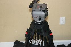 Cartoni Focus HD Tripod with Fluid Head Two Stage Legs With Spreader & Case