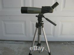 Celestron Ultima 80 (20 60x80 mm), with tripod used