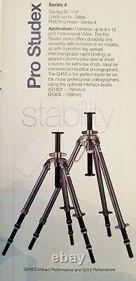 GITZO 4 Series 411 TRIPOD 410 with G525 Rapid Column Almost Mint One Owner