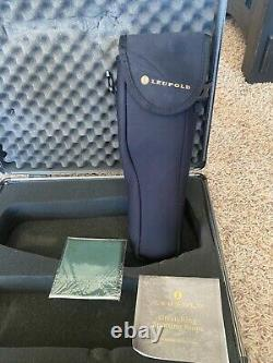 Leupold Sequoia Green Ring Spotting Scope 15-45X 60 with Tripod And Hard Case