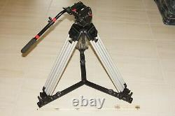 Manfrotto 519 Pro Video Pan Arm Fluid Head with Vinten 3-stage Tripod and Spider