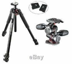 Manfrotto MT055XPRO3 Aluminium 3-Section Tripod Kit with MHXPRO3W X-PRO 3-Way Head