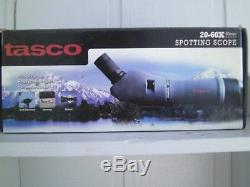 NEW TASCO 20-60X 60MM ZOOM SPOTTING SCOPE WithMOUNTABLE TRIPOD & 45 DEGREE EP
