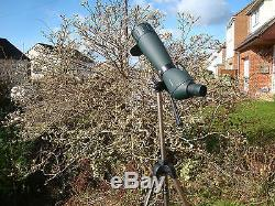 New LUYI 25-115x80 zoom Telescope / Spotting Scope with tow tripods(S and L)