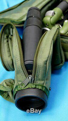 Rare Military Leupod Golden Ring Spotting Scope With Manfrotto Tripod And Trimbl