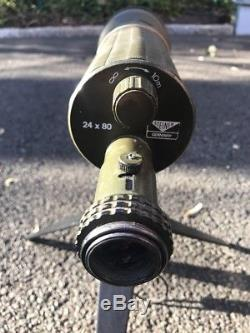 Steiner 24X80 Green Rubber Amored Spotting Scope + Cap + Tripod Special Forces