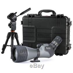 Vanguard Endeavor HD 82A 20-60x 82mm Angled Spotting Scope WithTable Tripod /Case