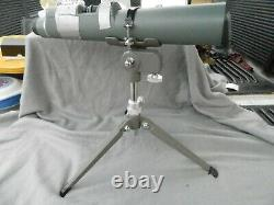 Vintage Bausch & Lomb Balscope Zoom 60 Spotting Scope With Tripod Estate Find