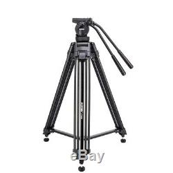 ZOMEI Pro Heavy Duty Video Camera Tripod with Fluid Pan Head For DSLR Camcorder