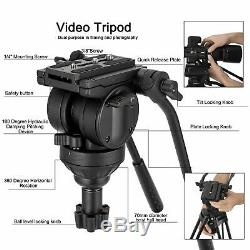 ZOMEI Pro Tripod VT666 with Damping Fluid PenHead HeavyDuty for Camcorder Camera