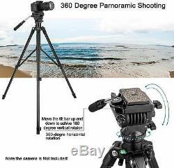 Zomei VT2000 Heavy Duty Video/Camera/Camcorde Tripod with Fluid PanHead Kit 62