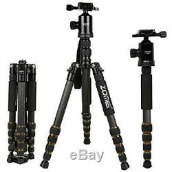 Zomei Z669C Travel Tripod Lightweight Carbon Fibre Monopod with Solid Ball Head